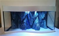Akvarijum sa talasastim staklom