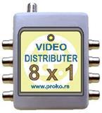 Pojačavač video signala sa više izlaza