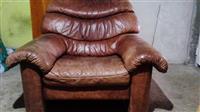 Fotelja kožna
