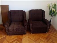 Krevet i 2 fotelje