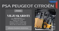 Peugeot fabrika posao za  viljuskariste