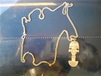Srebrni lanac i privezak Tumi iz Perua