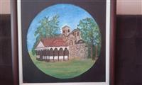 """Slika ulje na platnu """"Manastir Poganovo"""""""
