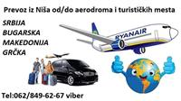 Prevoz do/od aerodroma i drugih destinacija