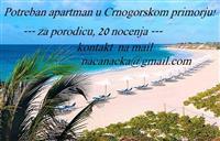 POTREBAN APARTMAN U CRNOGORSKOM PRIMORJU !!!