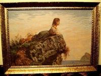"""Original vilerov goblen """"devojka na steni 355"""