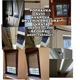 Popravka drvenih vrata i prozora.