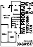 Stan 67m2+55m2 u Sapcu