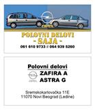 Opel Astra g zafira a