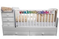 Krevetac za bebe 3u1 Lav beli