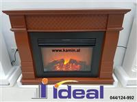 Electric fireplace with decor - IDEAL KAMINA