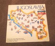 Jugoslavija turisticka mapa engleski 1982 godina