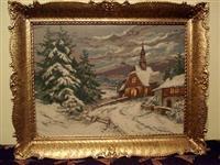 """Original vilerov goblen """"crkvica u snegu 3001"""