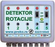 Detektor prestanka rotacije za kombajne