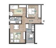 Stan 63m2 Hisar - Prvomajska