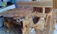 Garnitura stola od mazera/jagnjeda