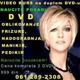 DVD FRIZURE, NADOGRADNJA, DVD MANIKIR, PEDIKI