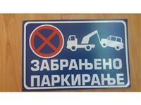 Table zabranjeno parkiranje