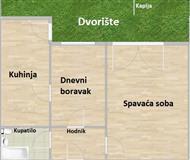 Dvorišni stan, Novi Sad