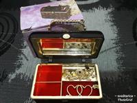 Muzička kutija za nakit kovčeg