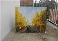 Stari Bec ulje na platnu  50x60cm akademski slika