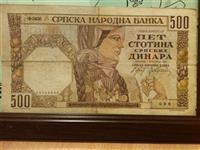 500 dinara iz 1941 god
