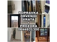 Popravka kvara na stolariji Drveni prozori Vrata