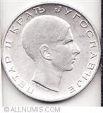 50 dinara srebrni novac iz 1938. kralja Petra