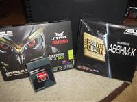 GTX 950+Amd Athlon X4 860k+A68HM-K+Cooler Gelid Tr