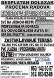 PVC STOLARIJA  KOMPLETNA USLUGA +POKLON,ODLOZENO P