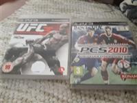 Prodajem 2 igrice za konzolu sony3 UFC3 i PES2010