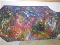 Umetnička slika na debelom staklu