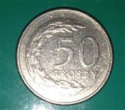 Kovanica od 50 groševa (Poljska), 1995, VF
