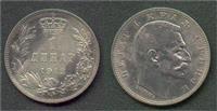 1 dinar srebrni novac iz 1912 kralj Petar