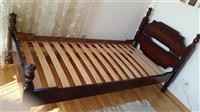 Rusticni krevet 100/200cm od punog drveta