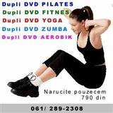 Dupli dvd aerobik, dvd zumba, dvd pilates