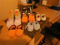 Cipelice za bebe od vunice i pamuka