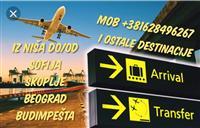 Prevoz putnika do/od aerodroma i drugih destinacia