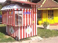 Kiosk za proizvodnju i prodaju kokica i ne sa