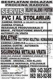SERVIS PVC STOLARIJE, ROLETNI,SIGURN.VRATA