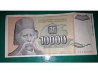 Papirna novčanica od 10.000 din., 1993, XF
