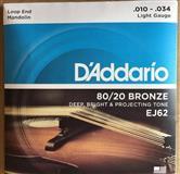 D'Addario EJ62 80/20 Bronze Mandolin Strings Light