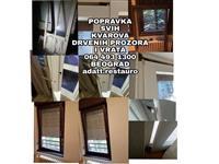Popravka otpalih prozora drvo