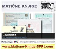 Izvodi i dokumenta iz eks SFRJ republika