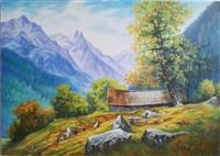 Umjetnička slika - Planinski motiv