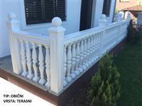 Betonski balusteri, ograde (dvorišne, terasne)
