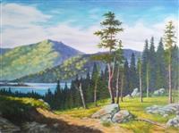 Umjetnička slika - Motiv sa Drine