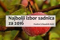 Najbolje sadnice za jesen 2016