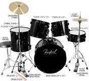 Akusticni bubnjevi set Firefeel D001