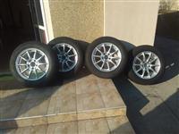Mercedes Alu felne i Michelin Alpin 225/55/16 gume